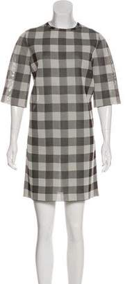 Celine Silk Gingham Mini Dress