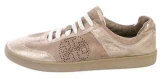 Tory Burch Suede Low-Top Sneakers