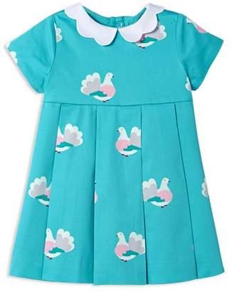 Jacadi Girls' Pleated Bird-Print Dress - Baby