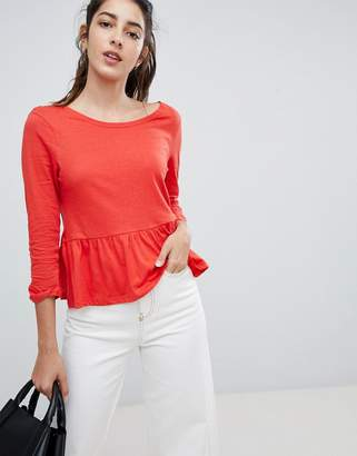 Brave Soul Theresa Frill Hem Top