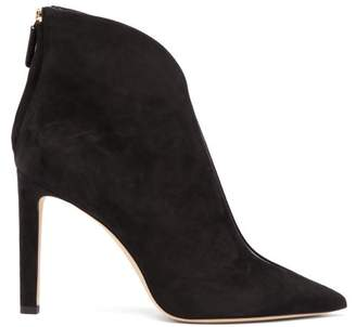 Jimmy Choo Bowie 100 Suede Ankle Boots - Womens - Black