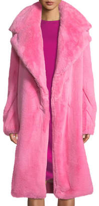 Milly Riley Long Faux-Fur Coat