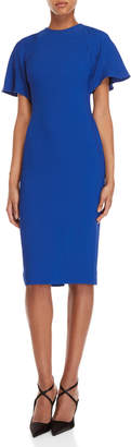 Antonio Berardi Blue Flutter Sleeve Pencil Dress