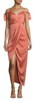 Zimmermann Winsome Draped Cocktail Midi Dress $695 thestylecure.com