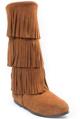 Minnetonka 3-Layer Fringe Narrow Boot Women Shoes