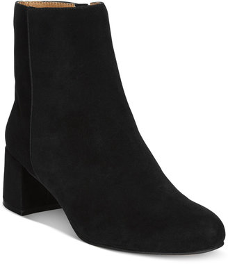 Adrienne Vittadini Lousia Suede Booties $139 thestylecure.com