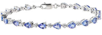 FINE JEWELRY LIMITED QUANTITIES Genuine Pear-Shaped Tanzanite Sterling Silver Bracelet
