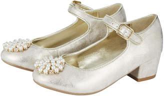 Monsoon Metallic Pearl Pom Pom Charleston Shoes