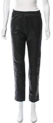 Marc by Marc Jacobs Mid-Rise Leather Pants