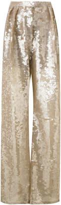 Alberta Ferretti sequin palazzo pants