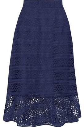 Raoul Macramé Lace Midi Skirt