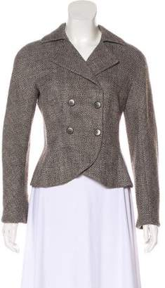 Emporio Armani Wool-Blend Tweed Blazer