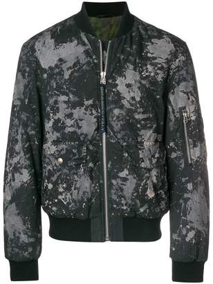 Mr & Mrs Italy splatter-print padded bomber jacket