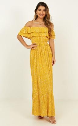Showpo Notre Dame Maxi Dress in yellow floral - 4 (XXS) The Maternity