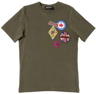 DSQUARED2 Scout Patches Cotton Jersey T-Shirt