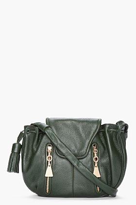 See by Chloe dark green leather Cherry Crossbody bag