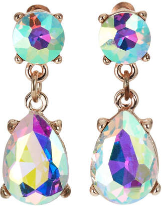 Romeo & Juliet Couture Iridescent Teardrop Stone Earrings