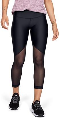 Under Armour Women's HeatGear Armour Mesh Graphic Ankle Crop