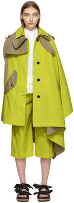 Sacai Yellow and Tan Cape Coat