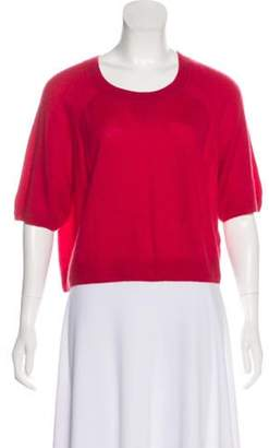3.1 Phillip Lim Cashmere Short Sleeve Sweater Red Cashmere Short Sleeve Sweater