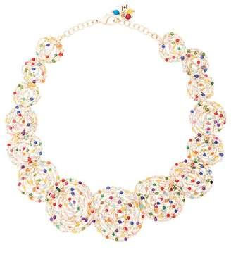 Rosantica Pizzo necklace with multicoloured quartz