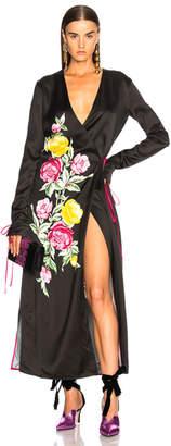 ATTICO Grace 3 Robe Dress in Black Floral