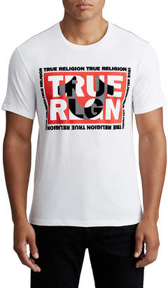 True Religion MENS FELT LOGO TEE