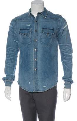 Amiri Distressed Denim Shirt w/ Tags