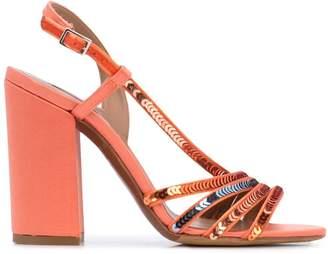 Tabitha Simmons Viola Peach sandals