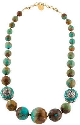 Devon Leigh Chrysocolla, Turquoise & Lapis Lazuli Bead Strand Necklace