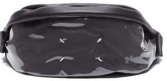 Maison Margiela Leather And Pvc Belt Bag - Mens - Black