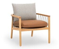 "Kardiel Crosshatch 28"" Chair, Stone/bronze Kardiel"