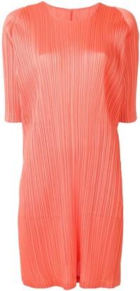Pleats Please Issey Miyake short-sleeve pleated dress