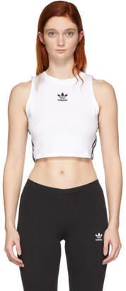 adidas White Cropped Tank Top