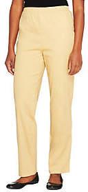 Denim & Co. Original Waist Stretch Petite Pantsw/ Side Pockets