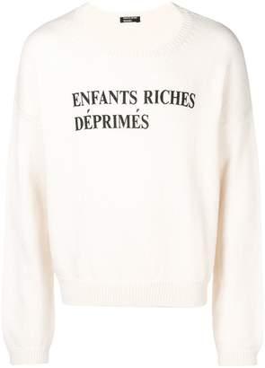Enfants Riches Deprimes logo printed jumper