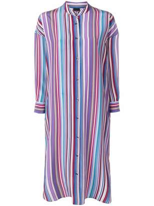 Aspesi striped shirt tunic dress