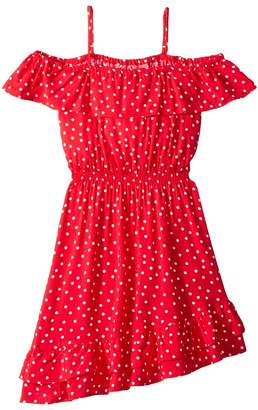 Bardot Junior Spot Shirred Dress Girl's Dress