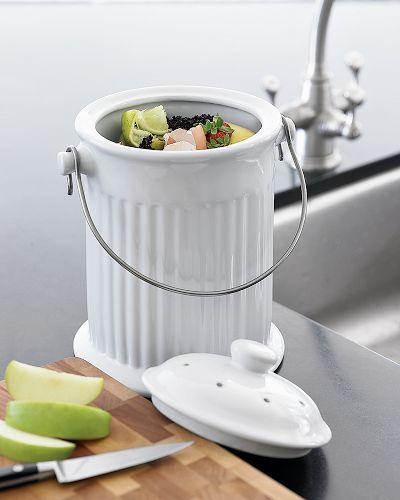 Ceramic Countertop Compost Pail