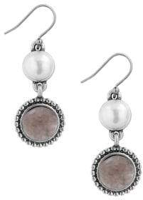Lucky Brand Nouveau Americana Faux Pearl Drop Earrings