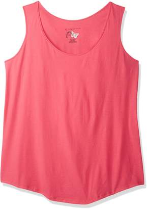 Just My Size Women's Shirt-Tail Tank Top