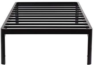 Olee Sleep 18inch Tall Round Edge Steel Slat / Non-slip Support S-3500 High Profile Platform Bed Frame
