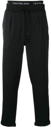 Calvin Klein Jeans double waistband track pants