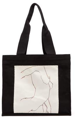 Luella Hillier Bartley Sketch Tote Bag - Womens - Black