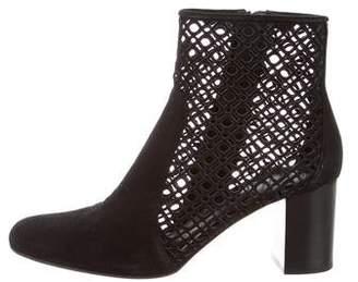 Aquatalia Suede Cutout Ankle Boots