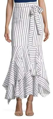 Milly Striped Linen Maxi Skirt