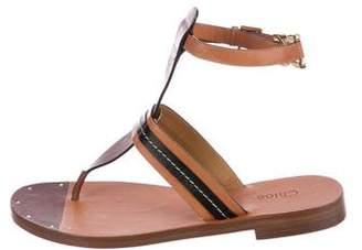 Chloé Grant T-Strap Sandals