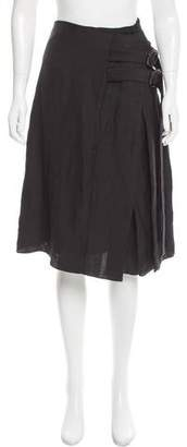 Creatures of the Wind Linen-Blend Knee-Length Skirt