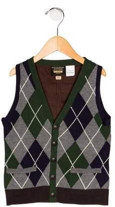 Ikks Boys' Argyle Knit Vest