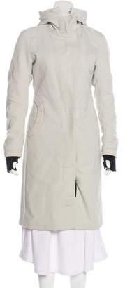 Prada Sport Hooded Knee-Length Coat